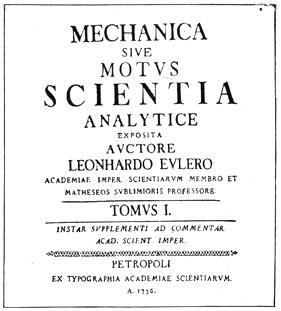 Титульный лист 'Механики' Эйлера