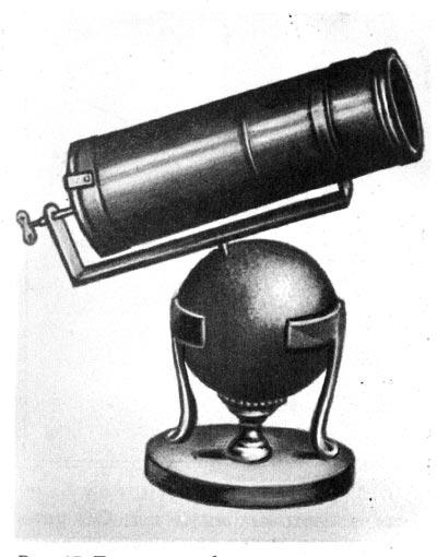 Рис.17. Телескоп-рефлектор Ньютона
